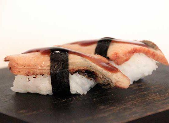 nigiri anguila redbar sushi vilanova