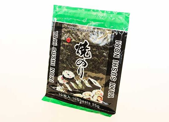 Paquete de alga nori en redsushi