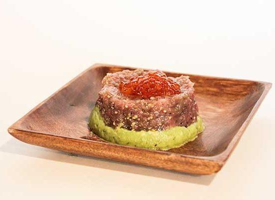 tartar de salmon en redsushi