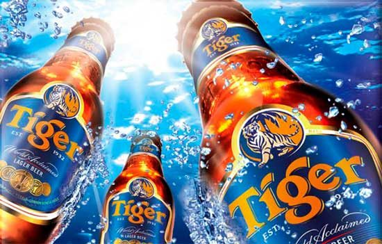 Tiger beer a redsushi vilanova